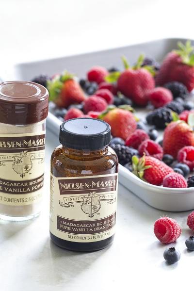 No Churn Roasted Berry Vanilla Bean Ice Cream Image