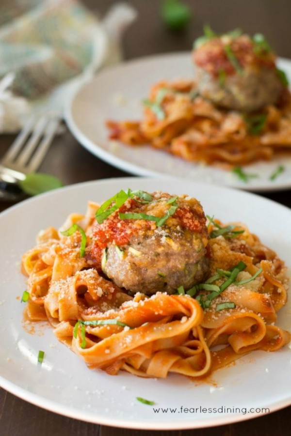 Zucchini Ricotta Stuffed Meatballs