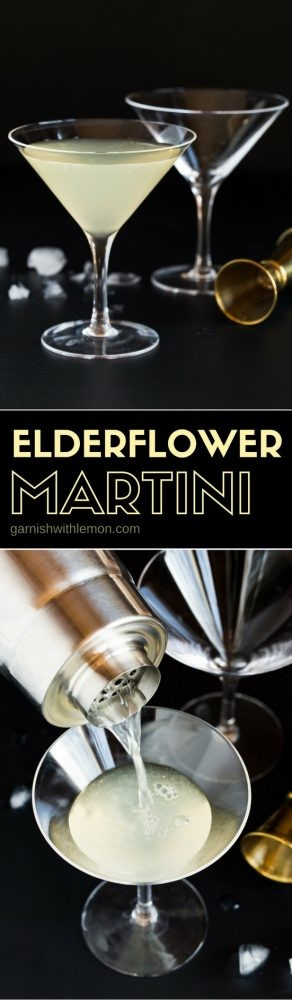 This Elderflower Martini - made with gin, vodka & St. Germain Liqueur - is one of our most requested cocktail recipes. Make it batch style for groups!