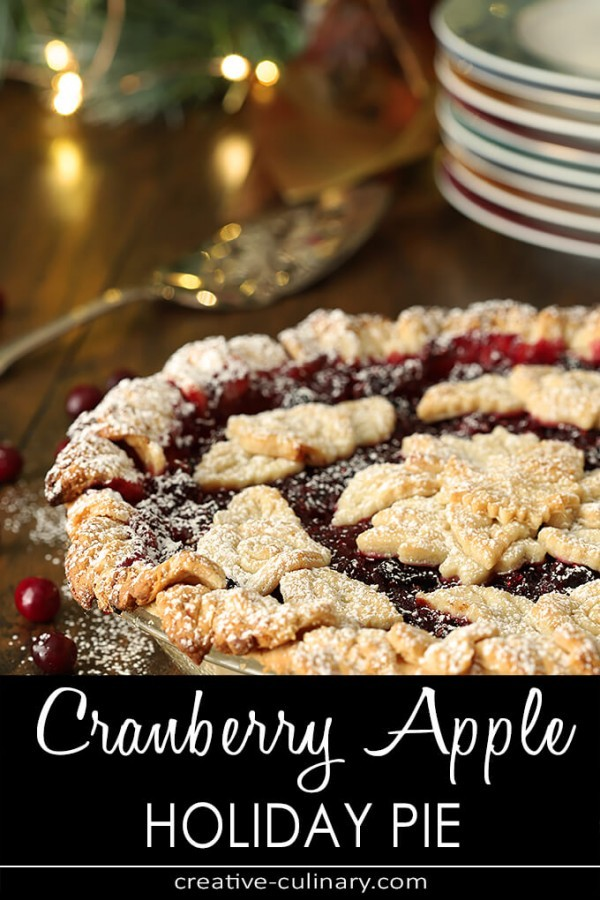 Cranberry Apple Pie with Grand Marnier Whipped Cream PIN