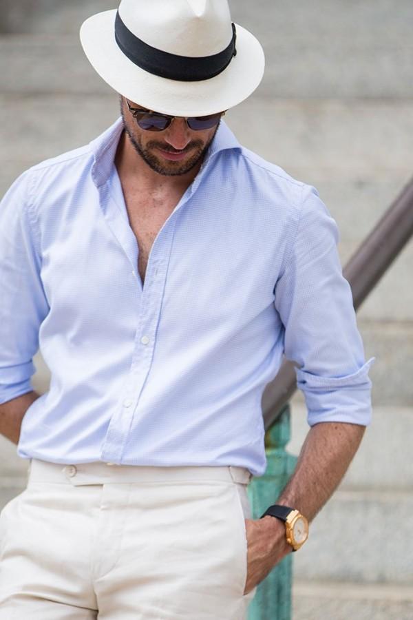 Goorin Bros Panama Hat Al Bazar Shirt - He Spoke Style