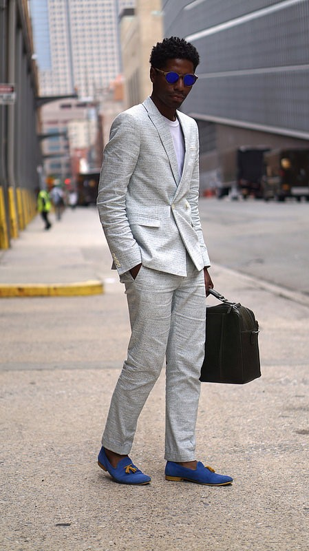 White Summer Suit - Menswear