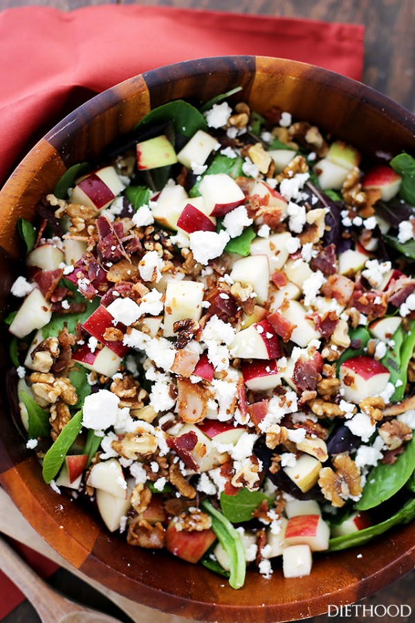 Apples and Bacon Salad with Maple-Balsamic Vinaigrette by Katerina ...