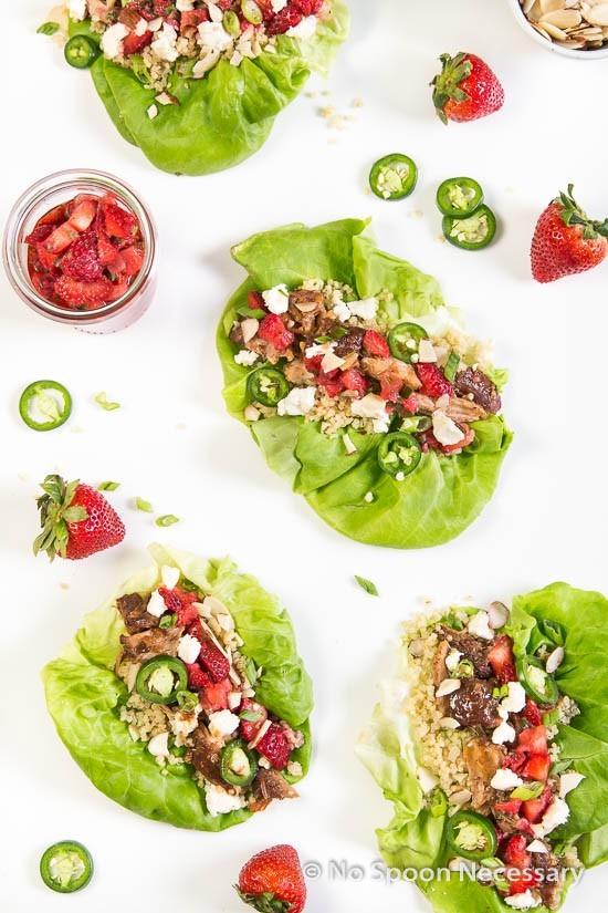 Strawberry Chicken Lettuce Wraps-257