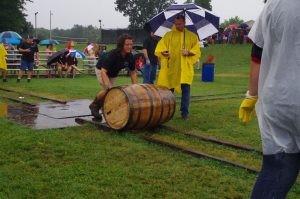 barrell rolling in the rain!