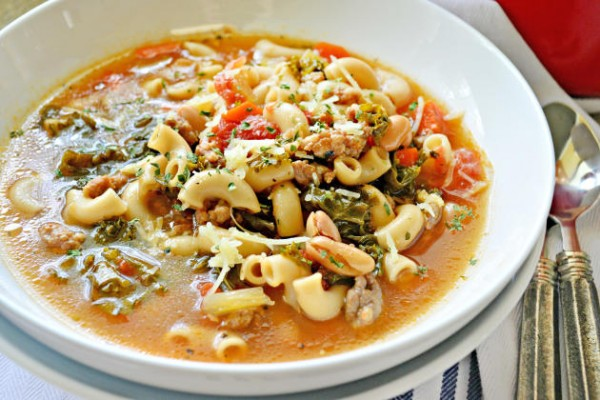 Kale, White Bean and Sausage Soup Image