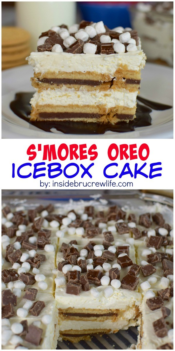 ... no bake icebox cake a s'mores twist. Perfect for picnics and parties