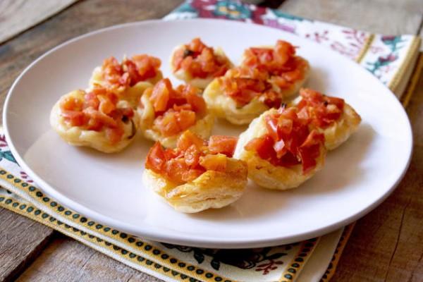 Upside Down Tomato Basil Tartlets Photo
