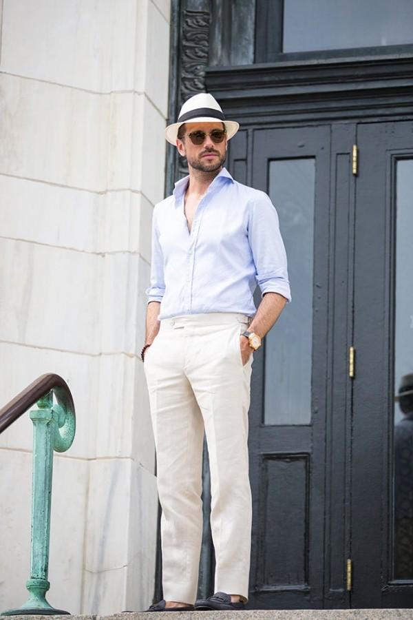 Al Bazar Shirt Saks Linen Pants - He Spoke Style