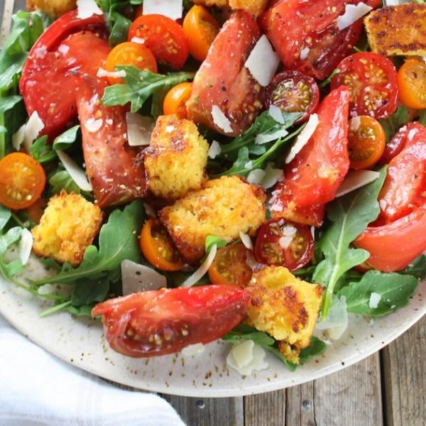 Heirloom Tomato Cornbread Salad