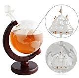 Spirits Decanters Nex Liquor Decanter Glasses Whiskey Decanter with Fiberboard Stand for Spirits or Wine(1000ml)