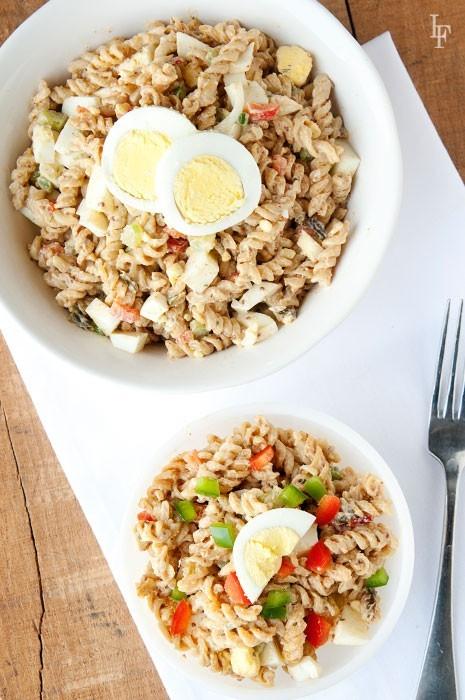 Jambalaya Pasta Salad - LauraFuentes.com