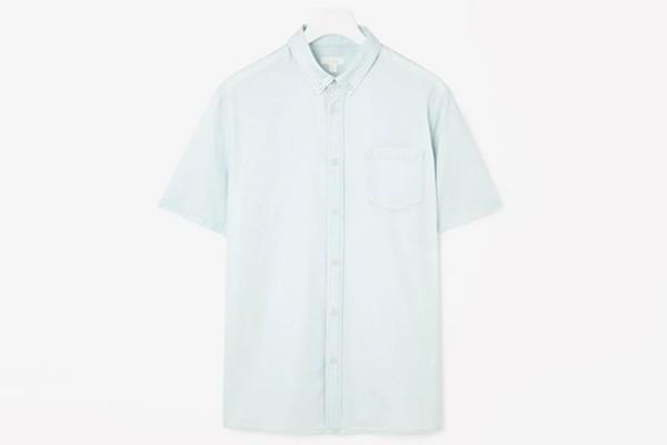 Cos Short-Sleeved Denim Shirt
