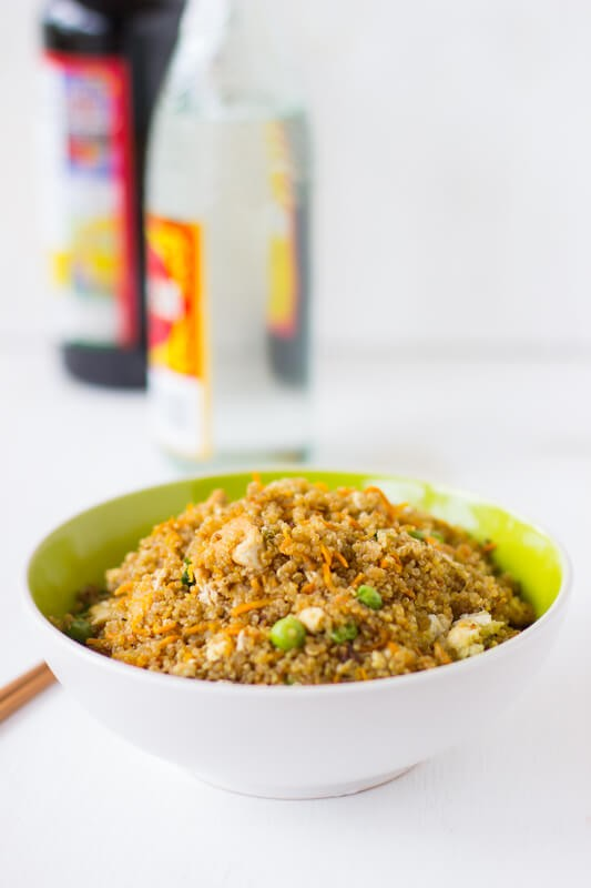 Quinoa and Tofu Stir-Fry is a healthier version of regular stir-fry that's still packed with flavour and is an easy week night dinner!