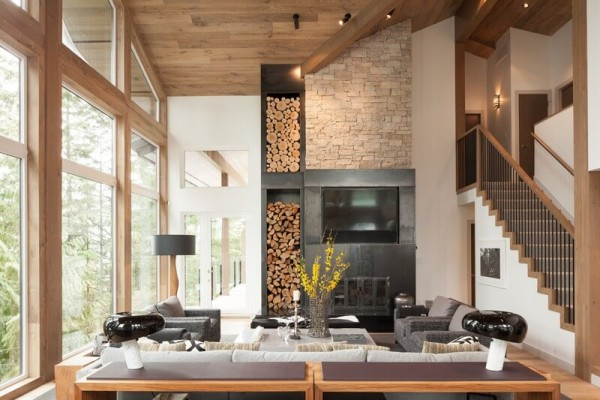 This Stunning Canadian Home Is A Modern Day Wood Cabin By Micle Mihai Cristian Details Style