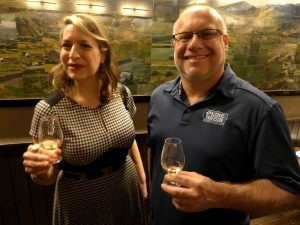 Amanda and Adam attend a special gathering of the Scotch Malt Whisky Society at Fine and Rare in Manhattan in early December, photo by Joshua Feldman