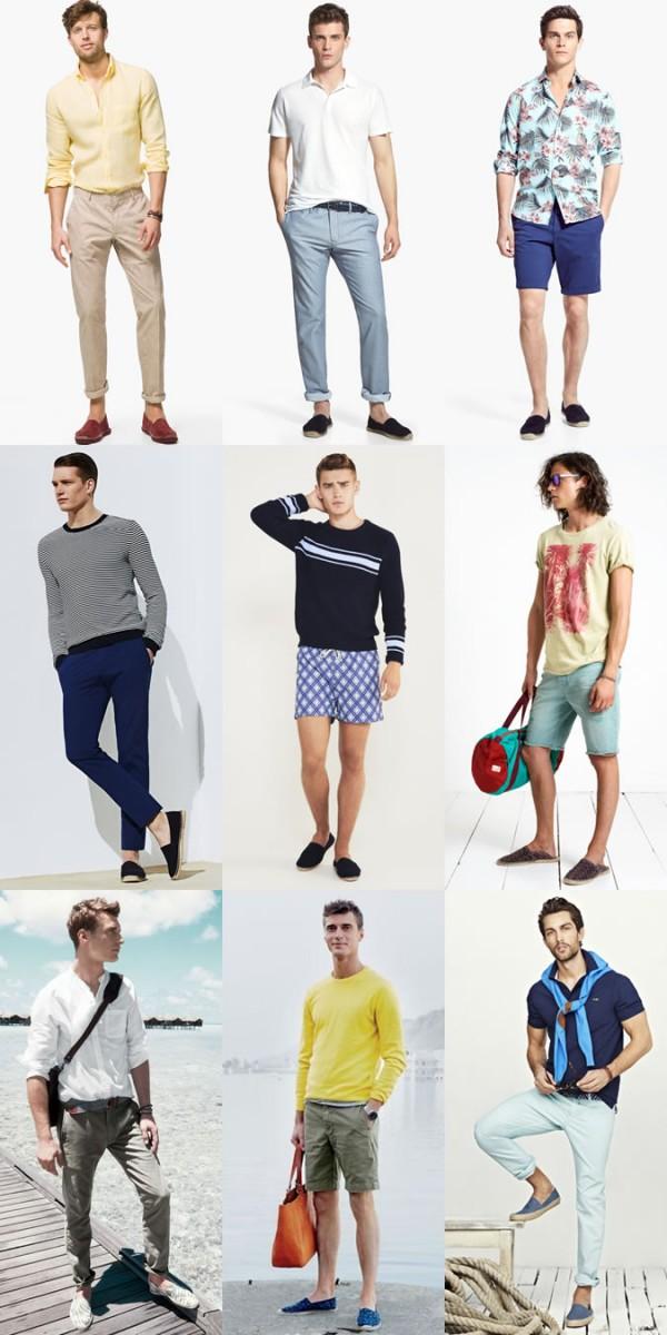 Men's Espadrilles Spring/Summer Outfit Inspiration Lookbook