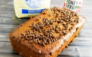 Chocolate Raspberry Bread #Choctoberfest #HoneyGivesHope