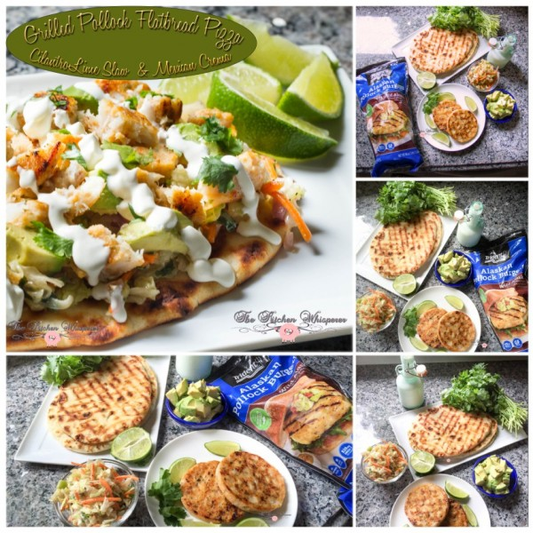 Grilled Pollack Flatbread Pizza Collage