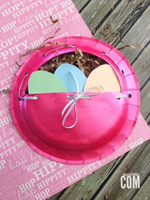 Paper Plate Easter Basket Craft | A Mother Thing