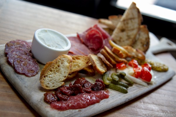 Monk's striking charcuterie board