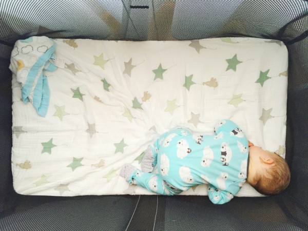He loved this crib! It was almost weird how much he liked being in it...