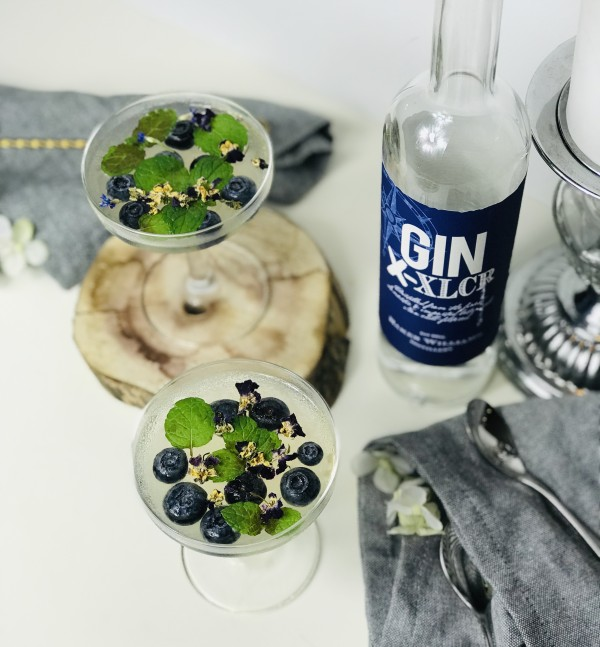 Sparkling Gin Jelly Top View