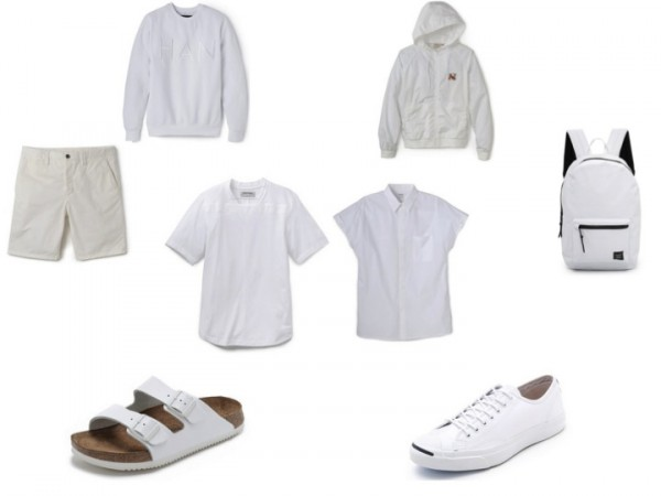 mens white essentials