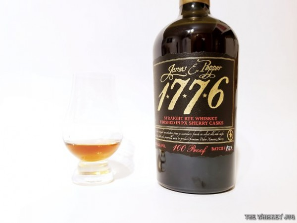 James E Pepper 1776 Rye Finished in Sherry Casks is a well balanced delicious whiskey with a light aroma.