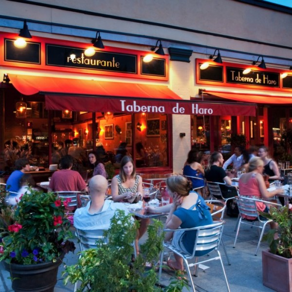 Boston - Taberna de Haro - Spanish - Exterior - Patio with Guests