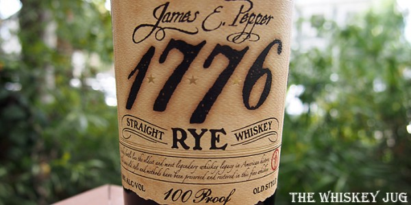 James E Pepper Rye Label