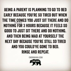 being a parent, sleep is a thing to do before the baby comes