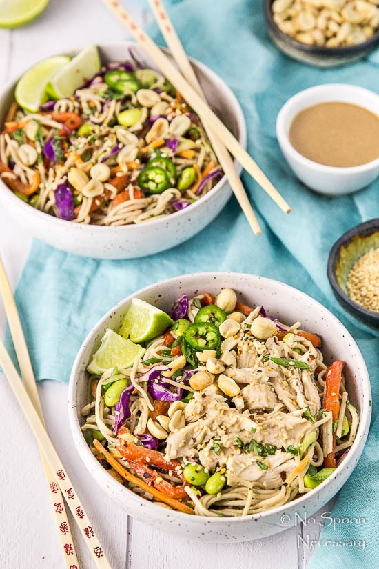 Thai Veggie Soba Noodle Bowls with Ginger-Tahini Dressing-40
