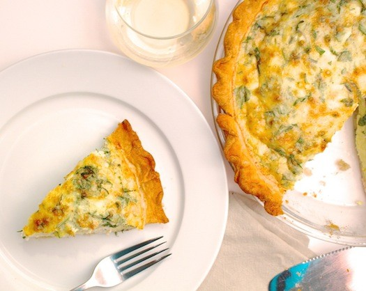 Kale and Three Cheese Quiche | LocalSavour.com