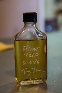 A sample of the bourbon before it makes its journey.