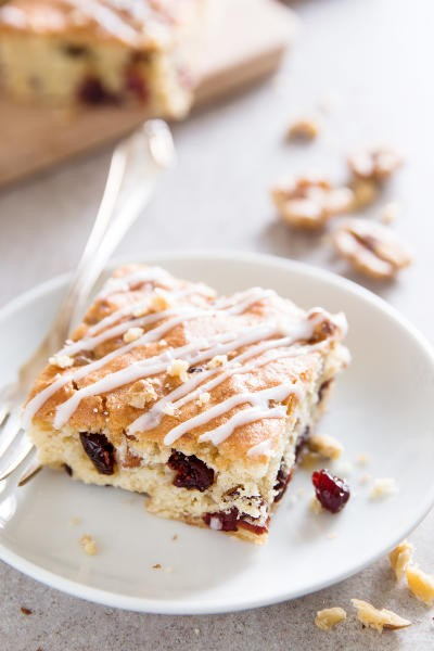 Cranberry Walnut Coffee Cake