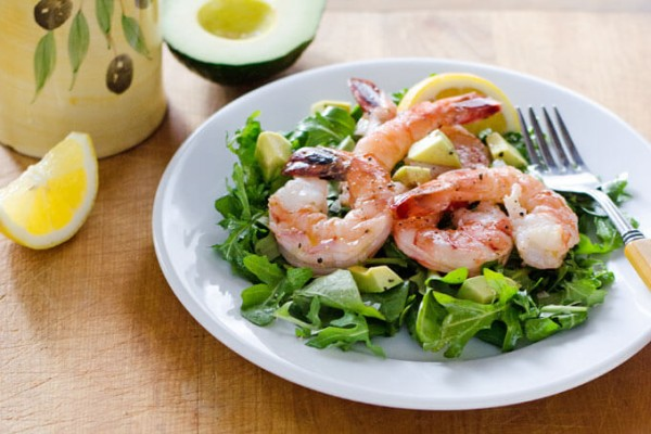 Shrimp and Arugula Salad | cookeatpaleo.com