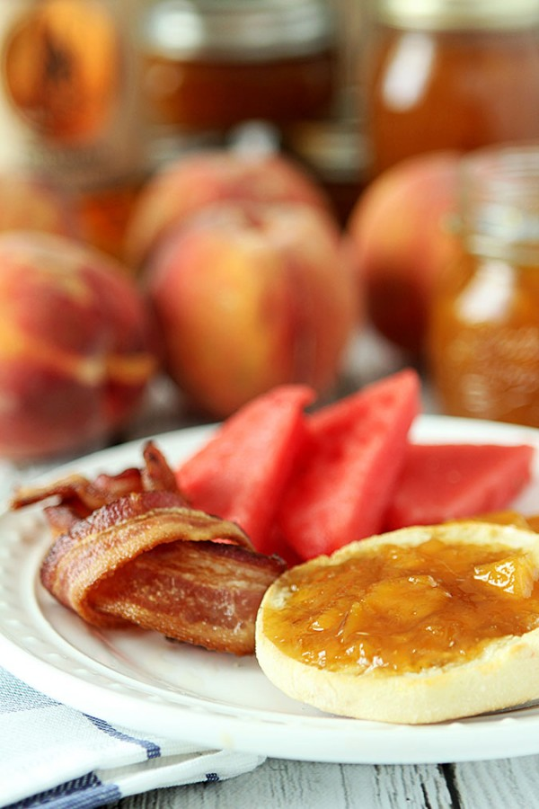 Bourbon Peach Jam with Vanilla Bean
