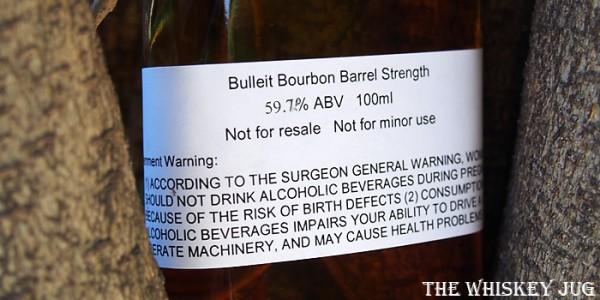 Bulleit Bourbon Barrel Strength Label