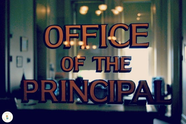 Principal's Office in School