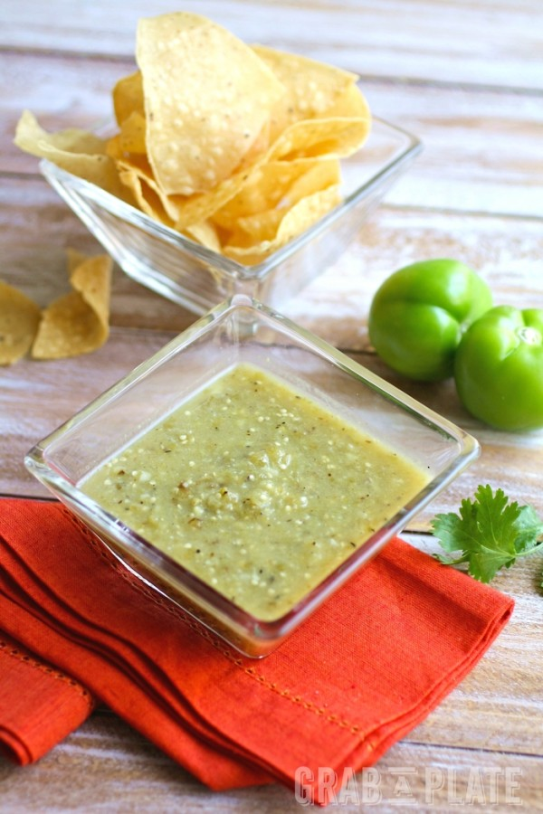 Roasted Tomatillo Salsa is great on its own, and with Skillet Pork Migas