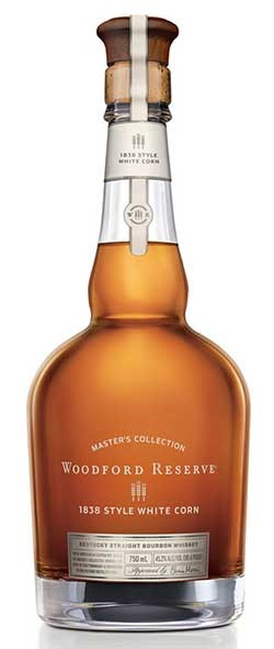 Woodford Reserve Master's Collection 1838 White Corn Bourbon Whiskey Bottle
