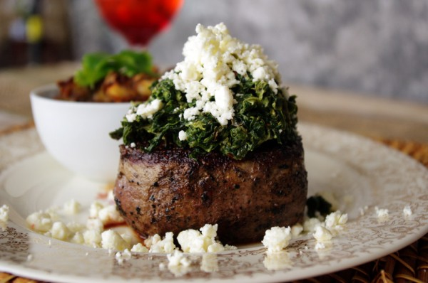 Feta Cheese and Spinach Filet Mignon