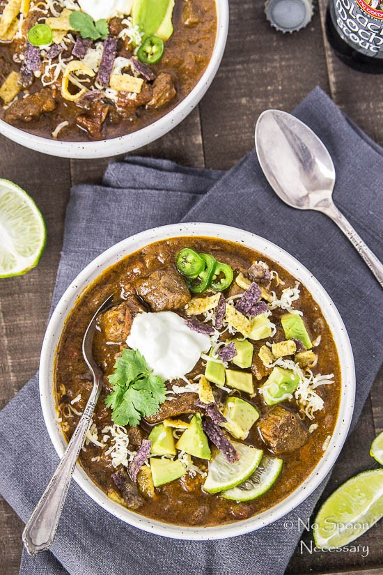 Short Rib Chili with Chocolate Stout - Slow Cooker-98