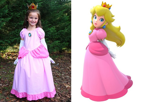 Princess Peach costume for Mario Bros. Family Costume