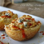 Mini Buffalo Chicken Dip Bread Bowls