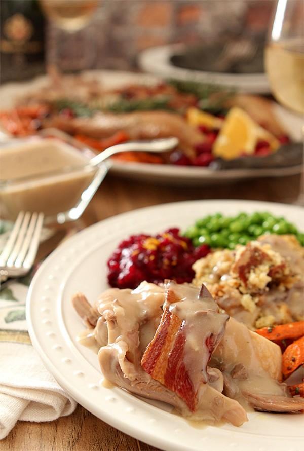 Maple, Bacon and Sage Roasted Turkey