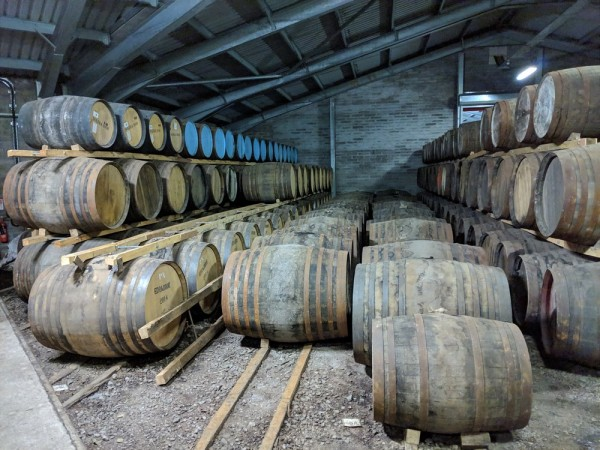 More wonderful casks in the warehouse.