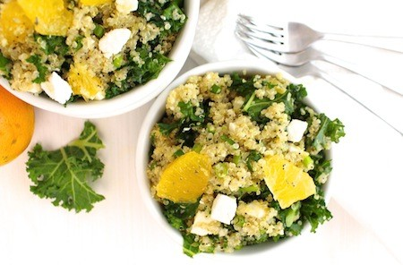 Quinoa Kale Salad with Orange Poppy Seed Dressing | LocalSavour.com