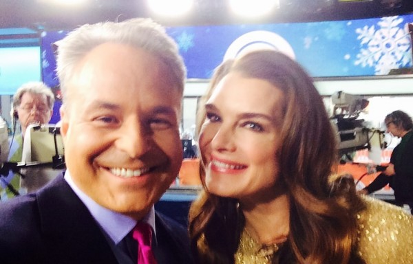 Clint Arthur and Brooke Shields on set of The TODAY Show